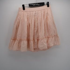 GAP Peach Pleated layer  A-Line Mini Skirt Size XS